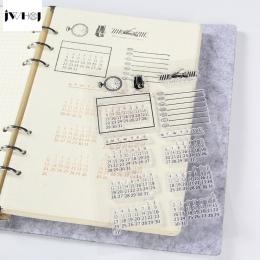 1 pc kalendarz czas przezroczyste silikonowe znaczki, dzieci diy Handmade księga gości zdjęcie ozdoba do albumu narzędzia dla dz