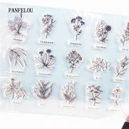 PANFELOU lista kwiatów wyczyść znaczek DIY uszczelki silikonowe Scrapbooking/karty/Album fotograficzny materiały dekoracyjne ark