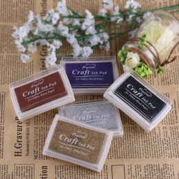 Moda kolorowe na bazie oleju na bazie oleju Craft odcisk atramentowy stemple do tkaniny drewno papier ślub DIY Craft prezent odc