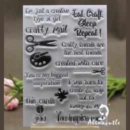 Wyczyść znaczki craft dziewczyna poczta Scrapbooking papier kartonowy rzemiosła silicon rolka gumowa przezroczysty czysty stempe