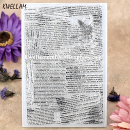 Gazety tło księga gości DIY zdjęcia karty pieczątka jasne pieczęć przejrzysty znaczek 10x15 cm KW7101425