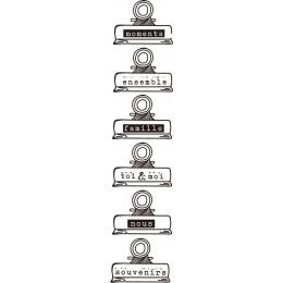 Przezroczysty przezroczysty pieczęć silikonowa/uszczelnienie do DIY scrapbooking/album fotograficzny dekoracyjne jasne sta A357