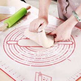 Nieprzywierająca mata silikonowa do pieczenia Pad mąki toczenia skali ciasto ciasto pieczenia wklej obrus na stół narzędzia kuch