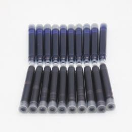 Cena hurtowa 10 sztuk jednorazowe niebieski i czarny wieczne pióro wkłady długość wieczne pióro wkłady