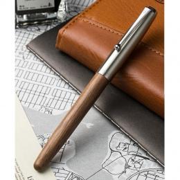 Zremasterowane wyposażone są w klasyczne drewniane pióro 0.38mm extra fine stalówka kaligrafia długopisy Jinhao 51A artykuły pap