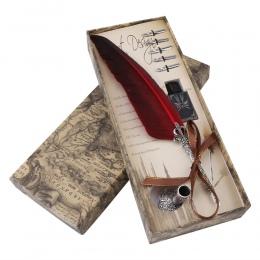 1 zestaw angielski kaligrafia pióro pióro do zanurzania pisanie zestaw atramentu papeterii pudełko z 5 stalówka prezent ślubny p