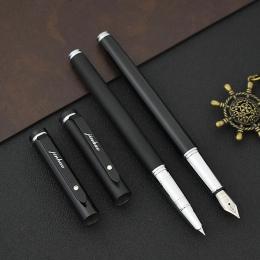 JINHAO marka 101 Mteal wieczne pióro czarne matowe atrament Canetas do pisania kaligrafii prezent biurowe szkolne papiernicze