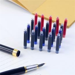 5 sztuk/partia wieczne pióro wysokiej jakości materiały biurowe i szkolne wkład czerwony czarny niebieski granatowy niebieski 10