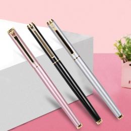 0.38mm wysokiej jakości w całości z metalu Lraurita długopis Kawaii biurowe atrament długopisy biurowe szkolne na prezent