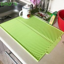 Epson duży mata do suszenia naczyń Premium odporna na wysokie temperatury silikonowe zastawa stołowa zmywarka bezpieczne Pad obi