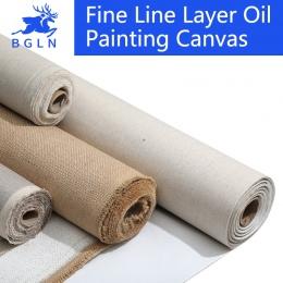 BGLN pościel mieszanka zagruntowane puste płótno do malowania wysokiej jakości warstwa obraz olejny na płótnie 1 m jedna rolka,