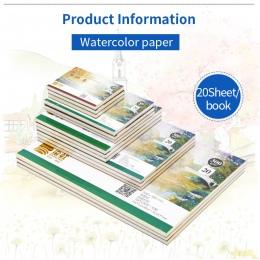 Profesjonalny papier akwarelowy 20 arkuszy ręcznie malowane książka woda dla artysty Student dostaw sztuki