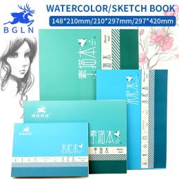 Bgln 1 szt profesjonalne akwarela/szkic papieru 16/32 arkuszy ręcznie malowane rozpuszczalne w wodzie książki kreatywne biuro sz