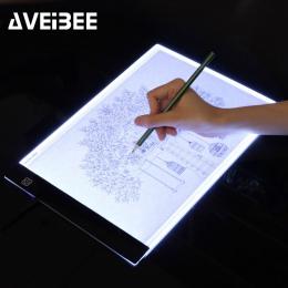 LED oświetlone tablica do pisania A4 podświetlana podkładka tablet graficzny śledzenia Pad szkicownik puste płótno do malowania