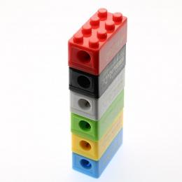 6 sztuk kreatywny uroczy bajka zabawki klocki plastikowa temperówka prezent dla dzieci Student biurowe (losowy kolor)