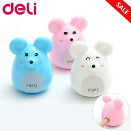 Deli śliczne Kawaii piękne plastikowe myszy instrukcja temperówka kreatywne artykuły papiernicze prezenty dla przybory szkolne d