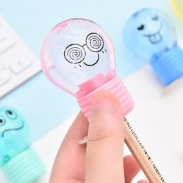 Nowość styl żarówki temperówka kreatywny emocje plastikowa temperówka dla dzieci prezenty Kawaii papiernicze artykuły szkolne