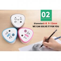Adeeing automatyczne z dwoma otworami elektryczna temperówka do ołówków Home Office szkolne
