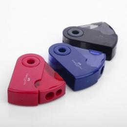 Pojedyncze i podwójne otwory temperówka kolorowy kieszonkowy wykwintne wyostrzyć długopis narzędzie biurowe szkolne artykuły piś