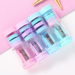 Cukierki kolor temperówka z 4 sztuk gumki Kawaii temperówka dla dziewczyn prezenty z powrotem do szkolne śliczne biurowe