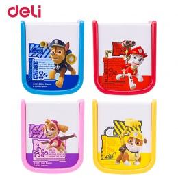 Deli hurtownie 4 kolory kawaii cartoon szczeniak wzór dwa otwory temperówka dla dzieci w szkole akcesoria papiernicze na prezent