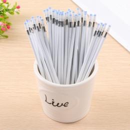 10 sztuk/partia biały kolor powłoki żel wkłady długopisowe 0.5mm czarny atrament Kawai wzór biurowy artykuły biurowe 13 cm długo