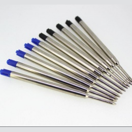 10 sztuk uniwersalny standardowy styl czarny i niebieski atrament 0.7 MM Medium stalówka długopis wkłady