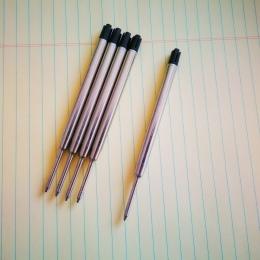 5 sztuk/partia długopis napełniania 0.7 MM niebieski czarny atrament Roller Ball wkłady do pisania biuro szkolne suplementy