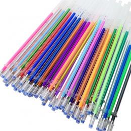 12/24/36/48 kolor tęczy Flash długopis żelowy wyróżnienia kolor napełniania pełna Shinning wkłady malarstwo wkłady długopisowe s