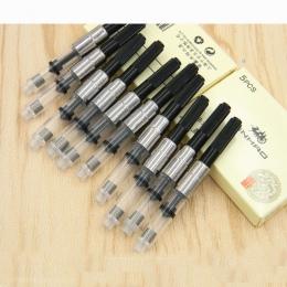 10 pc pióro wieczne do napełniania atrament konwerter pompy wkłady czarny