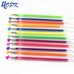 12 sztuk/zestaw długopisy żelowe w różnych kolorach do napełniania 0.7mm wielu kolorowe malowanie atrament żelowy długopisy wkła