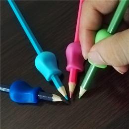10 sztuk miękkie dzieci długopis uchwyt do trzymania ołówka korektor dzieci silikonowe ręczne pisanie chwytak