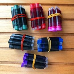 60 sztuk/partia jednorazowe kolor wieczne pióro wkłady uniwersalny design wkład do pióra