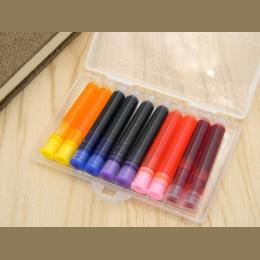 Pudełko opakowanie 10 pc kolor wieczne pióro napełniania konwerter pompy 3.4mm wkłady wkład do pióra