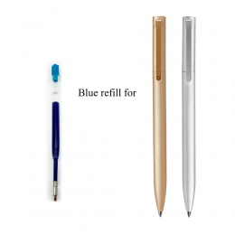 0.5 MM niebieski kolor atramenty wkład do Xiaomi Mijia Pen Metal wersja wymiana tylko dla złoty kolor srebrny kolor Mijia długop