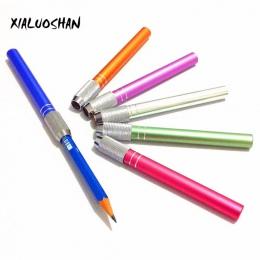 2 sztuk/partia uchwyt ołówek Extender szkoła Art narzędzie do pisania delikatne metalowe pisanie instrumentu szkic rysunek dosta