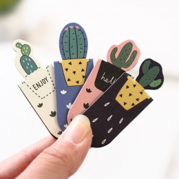 3 sztuk/zestaw świeże słodkie Cactus Sakura magnetyczne zakładki książki Marker strony szkolne materiały papiernicze szkolne mat