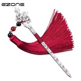 """EZONE chiński styl Vintage, antyczne metalowe zakładek """" hotele """"oraz """" wynajem samochodów"""" na górze ręcznie splot długi Tassel"""
