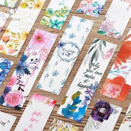 30 sztuk/zestaw piękne kwiaty zakładki wiadomości karty notatki na książki uchwyt na papier do książek szkolne materiały biurowe