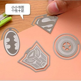 Kapitan ameryka metalowe zakładki Cute Cartoon League Of Legends zakładki dzieci szkolne materiały papiernicze prezent szkolne m