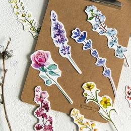 """30 sztuk/paczka kwiat etykiety roślin szkolne materiały papiernicze zakładek """" hotele """"oraz """" wynajem samochodów"""" na górze papie"""