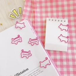 """4 sztuk/partia świnia zwierząt różowy zakładek """" hotele """"oraz """" wynajem samochodów"""" na górze spinacz do papieru szkolne materiał"""
