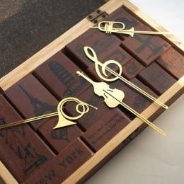 Nowy Kawaii śliczne złoty instrumenty muzyczne metalowe zakładki zakładki do książek spinacze do papieru biuro szkolne materiały