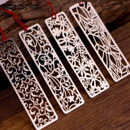 EZONE kreatywny kwiat Hollow zakładki w stylu Vintage metalowe zakładki z chiński węzeł wielofunkcyjne artykuły papiernicze mate