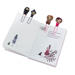 8 sztuk śliczne zakładki do książek gorąca figurka postaci z filmu DIY zakładka do książek spinacze do papieru nauczyciel szkoły