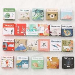 40 sztuk/pudło Mini Cartoon dekoracja z naklejek papierowych naklejka album DIY Scrapbooking naklejka uszczelniająca Kawaii biur