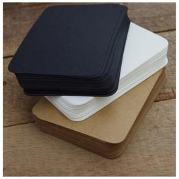 20 sztuk/partia śliczne czarny biały Kraft papierowy notes do robienia notatek uwaga klocki karty kreatywnych koreański biurowe