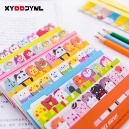 1 sztuk Kawaii biurowe Memo Pad zakładki kreatywny śliczne zwierząt karteczki samoprzylepne szkolne naklejki papierowe