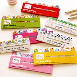Różne Kawaii japoński Scrapbooking naklejki karteczki samoprzylepne szkolne materiały biurowe papiernicze strona flagi dla dziec