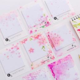 Japoński Sakura własny kij notatki samoprzylepne karteczki samoprzylepne śliczne notatniki opublikowane pisanie klocki naklejki